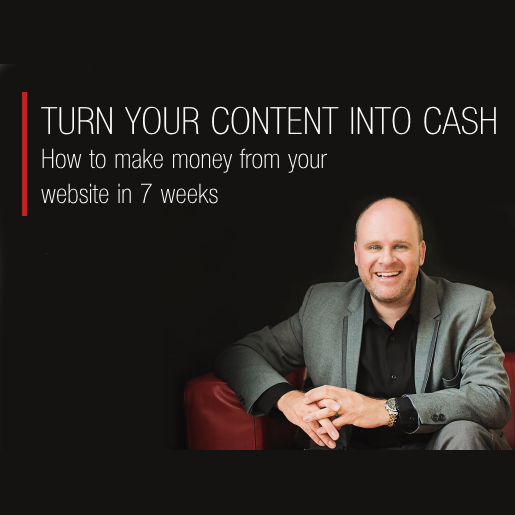 How to turn your content into cash - product image v3